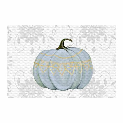 Jennifer Rizzo Boho Pumpkin Illustration Gray/Black Area Rug Rug Size: 2 x 3