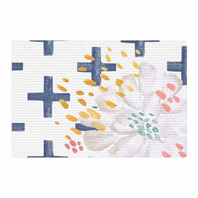 Jennifer Rizzo Bright and Pretty Floral Navy/Blue Area Rug Rug Size: 2 x 3