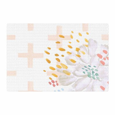 Jennifer Rizzo Bright and Pretty Floral Pink/Coral Area Rug Rug Size: 2 x 3