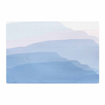 Jennifer Rizzo Layered Mountains Abstract Blue/White Area Rug Rug Size: 2 x 3