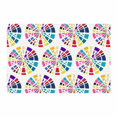 Patternmuse Precious Multi Illustration White/Yellow Area Rug Rug Size: 2 x 3