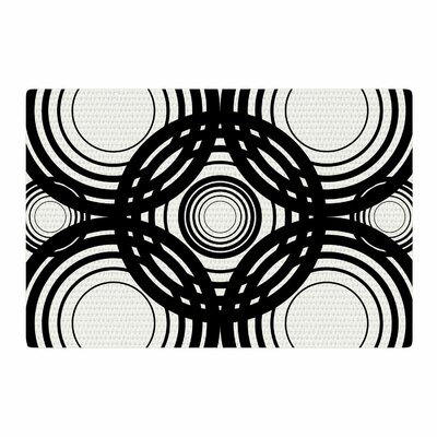 Kathryn Pledger Mono Geo Geometric Black/White Area Rug Rug Size: 4 x 6