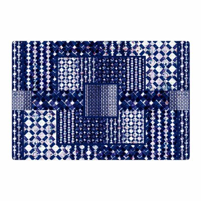 Kathryn Pledger Morocco Mixed Media Blue/White Area Rug Rug Size: 4 x 6