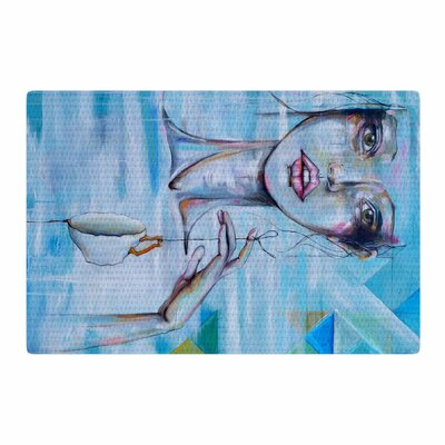 Kira Crees Alice People Painting Blue/White Area Rug Rug Size: 2 x 3