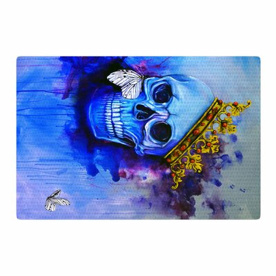 Kira Crees Spiriti Darchivio Fantasy Painting Blue/Gold Area Rug Rug Size: 2 x 3