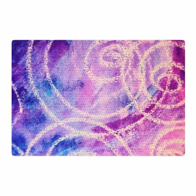 Liz Perez Vortex Watercolor Purple Area Rug Rug Size: 2 x 3
