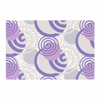 Patternmuse Dynamic Swirls Lavender Digital Purple Area Rug Rug Size: 2 x 3