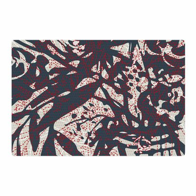 Patternmuse Inked Floral Latte Illustration Black/Beige Area Rug Rug Size: 2 x 3