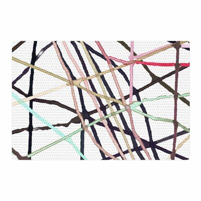 Patternmuse Love Tangle Watercolor Brown/Green Area Rug Rug Size: 2 x 3