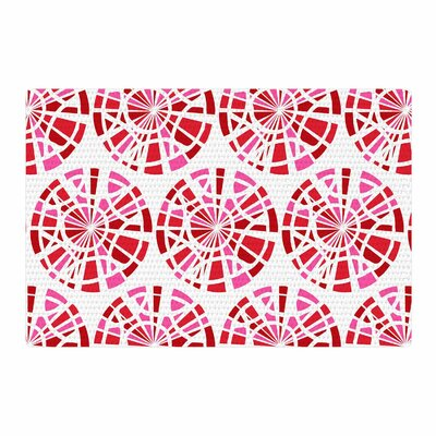 Patternmuse Precious Ruby Illustration Red/Pink Area Rug Rug Size: 2 x 3
