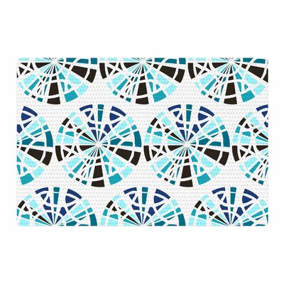Patternmuse Precious Topaz Teal Illustration Blue Area Rug Rug Size: 2 x 3