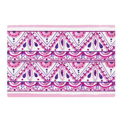 Li Zamperini Aztec Magenta Pink Watercolor Area Rug Rug Size: 4 x 6