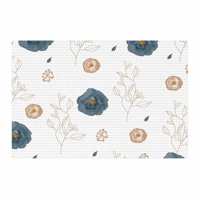 Li Zamperini Collection - Deli Watercolor Blue/Beige Area Rug Rug Size: 4 x 6