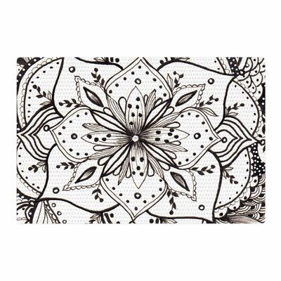 Li Zamperini BW Illustration Black/White Area Rug Rug Size: 4 x 6