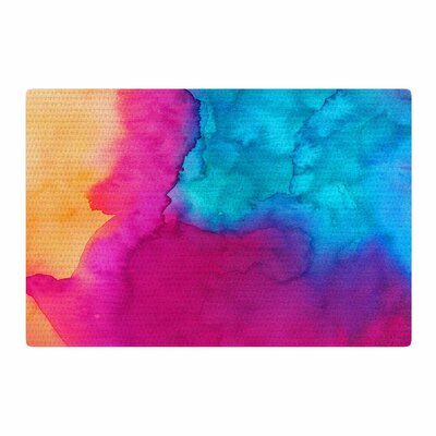 Li Zamperini Changes Watercolor Blue/Pink Area Rug Rug Size: 2 x 3