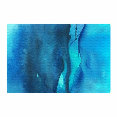 Li Zamperini Deep Sea II Watercolor Blue/Teal Area Rug Rug Size: 2 x 3