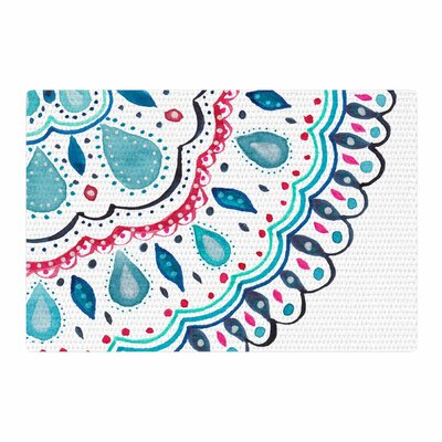 Li Zamperini Doile Watercolor Arabesque Teal/Pink Area Rug Rug Size: 4 x 6