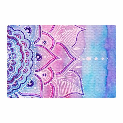 Li Zamperini Light Mandala Watercolor Lavender/Pink Area Rug Rug Size: 2 x 3