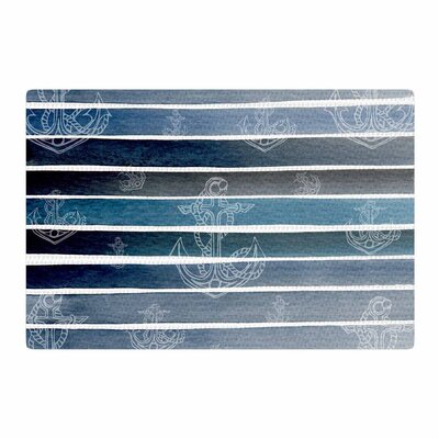 Li Zamperini Marine II Watercolor Blue/White Area Rug Rug Size: 2 x 3