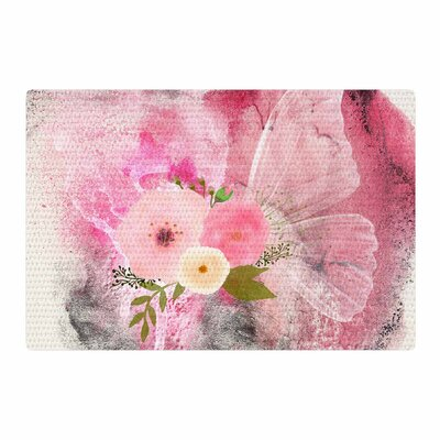 Li Zamperini My Butterfly Watercolor Pink Area Rug Rug Size: 4 x 6
