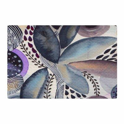 Li Zamperini Organic Watercolor Blue Area Rug Rug Size: 2 x 3