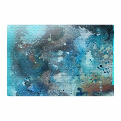 Li Zamperini Planet Watercolor Blue/Teal Area Rug Rug Size: 4 x 6