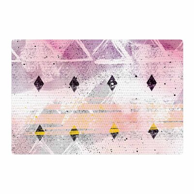 Mmartabc Abstract Geometry and Painting Gray/Pink Area Rug Rug Size: 4 x 6
