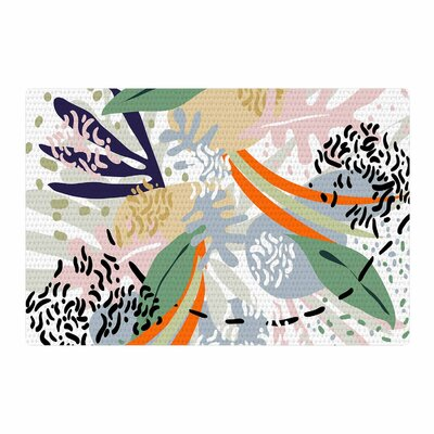 Mmartabc Abstract Marine Shapes Illustration White Area Rug Rug Size: 2 x 3