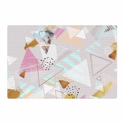 Mmartabc Abstract Triangles Texture Digital Gray Area Rug Rug Size: 2 x 3