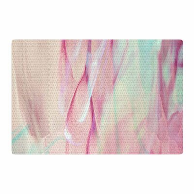 Mmartabc Galactic Abstract Digital Pink Area Rug Rug Size: 2 x 3