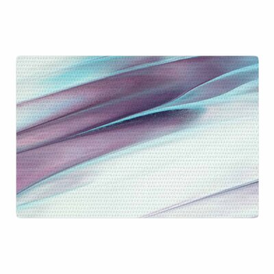 Mmartabc Paint Strokes Blue/Purple Area Rug Rug Size: 4 x 6