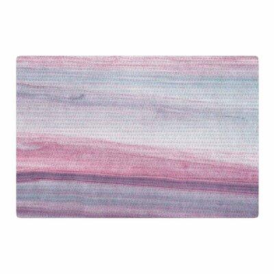Mmartabc Painting Pastel Lines Purple Area Rug Rug Size: 4 x 6