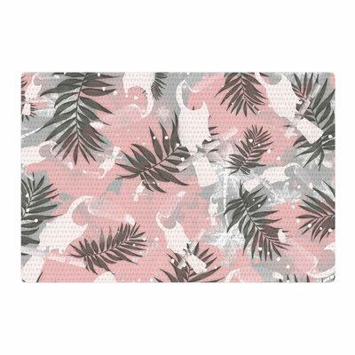 Mmartabc Toucan in the Jungle Watercolor Pink/Gray Area Rug Rug Size: 2 x 3