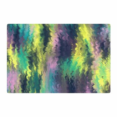 Hitidesign Marbling Digital Teal/Purple Area Rug Rug Size: Rectangle 2 x 3