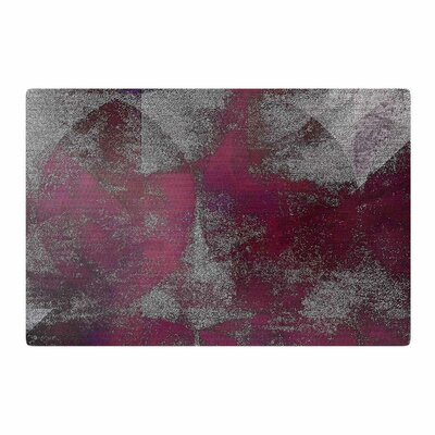 Mimulux Patricia No Petals in the Moonlight Digital Purple/Gray Area Rug Rug Size: 2 x 3