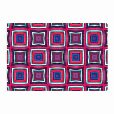 Miranda Mol Watercolor Blocks Checker Pink/Black Area Rug Rug Size: 4 x 6