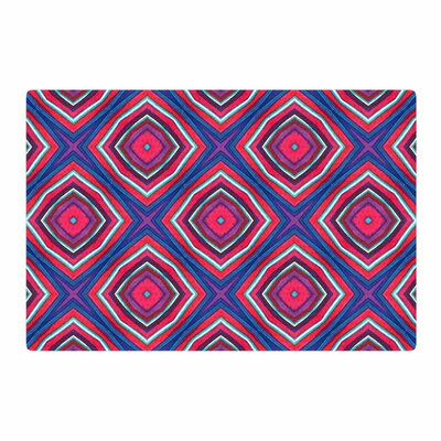 Miranda Mol Watercolor Diamonds Rose Purple Area Rug Rug Size: 4 x 6
