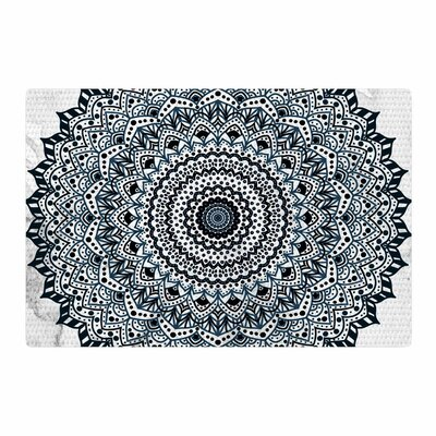 Nika Martinez Boheme Dream Mandala Illustration Black/Blue Area Rug Rug Size: 4 x 6