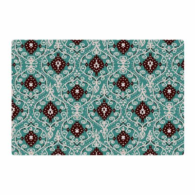 Nika Martinez Bohemian Paisley Pattern Digital Illustration Green/Brown Area Rug Rug Size: 2 x 3