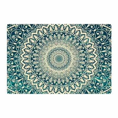Nika Martinez Nature Boho Mandala Illustration Green Area Rug Rug Size: 4 x 6