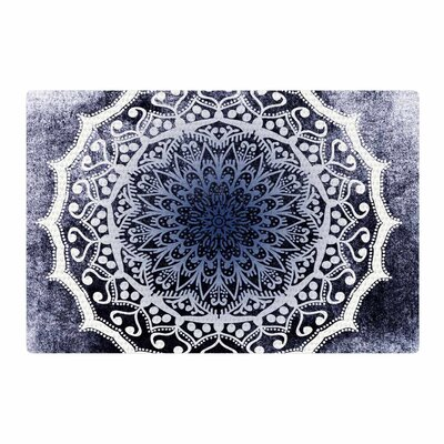 Nika Martinez Siam Mandala Illustration Purple/White Area Rug Rug Size: 2 x 3
