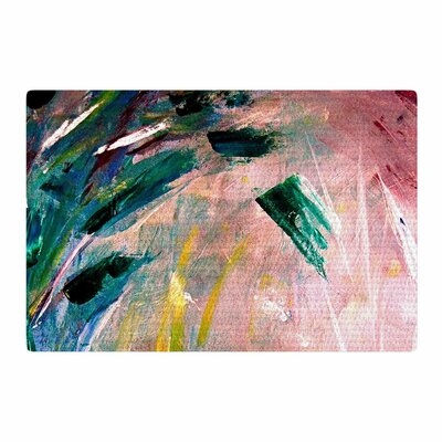 Malia Shields Journey Painting Green/Pink Area Rug Rug Size: 2 x 3