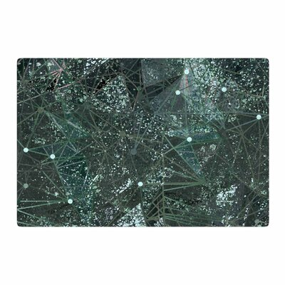 Marianna Tankelevich Aventurine Space Digital Green/Gray Area Rug Rug Size: 2 x 3