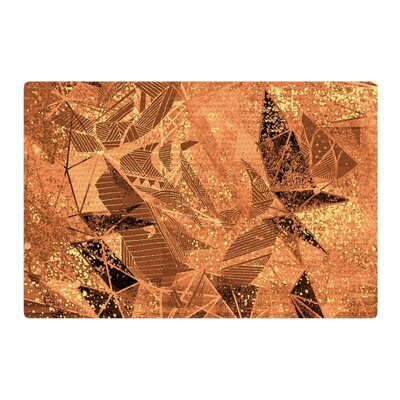 Marianna Tankelevich Geometry of Fire Mixed Media Orange/Brown Area Rug Rug Size: 4 x 6