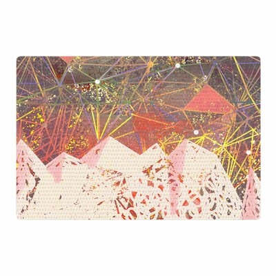 Marianna Tankelevich Space Mountain Mixed Media Coral/Pink Area Rug Rug Size: 4 x 6