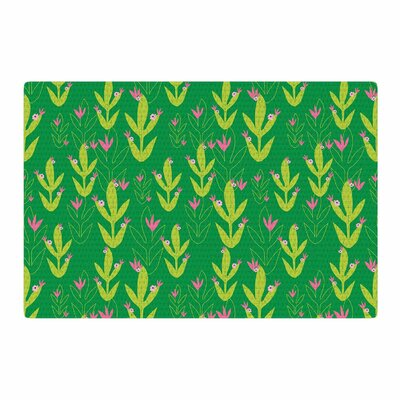Neelam Kaur Cacti Tropical Inspired Digital Green/Pink Area Rug Rug Size: 2 x 3