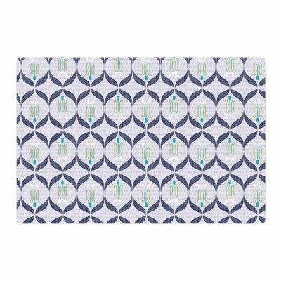 Neelam Kaur Cool Reminiscence Coral Digital Blue Area Rug Rug Size: 4 x 6