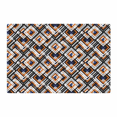 Neelam Kaur Jumbled Digital Black/Blue Area Rug Rug Size: 2 x 3