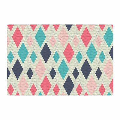 Neelam Kaur Modern Retro Digital Pink/Blue Area Rug Rug Size: 4 x 6