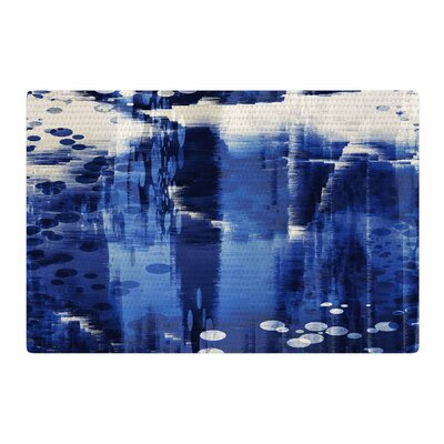 Nina May Extract Digital Blue/White Area Rug Rug Size: 4 x 6